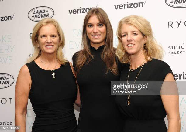 Kerry Kennedy Mariah Kennedy Cuomo and Rory Kennedy attend 'Take Every Wave The Life Of Laird Hamilton' New York Premiere at The Metrograph on...