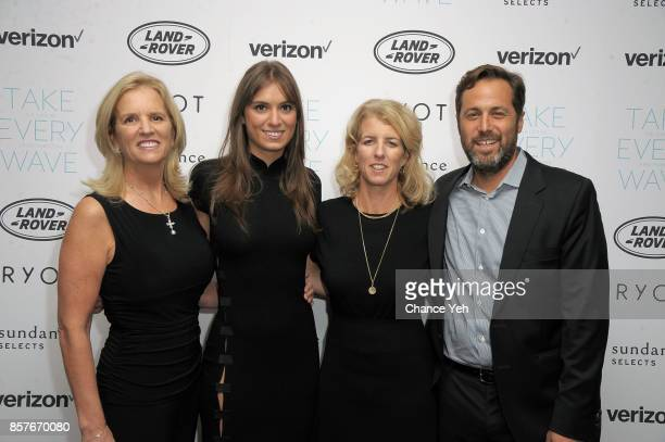 Kerry Kennedy Mariah Kennedy Cuomo Rory Kennedy and Mark Bailey attend Take Every Wave The Life Of Laird Hamilton New York premiere at The Metrograph...