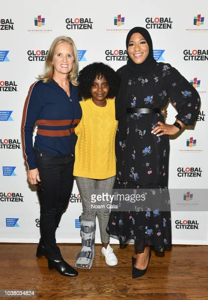 Kerry Kennedy Naomi Wadler and Ibtihaj Muhammad attend Global Citizen Week The Spirit Of A Movement at Riverside Church on September 22 2018 in New...