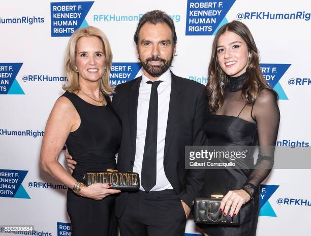 Kerry Kennedy Olivier Bernoux and Michaela Kennedy Cuomo attend Robert F Kennedy Human Rights Hosts Annual Ripple Of Hope Awards Dinner at New York...
