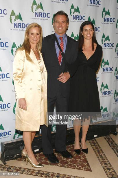 Kerry Kennedy Robert F Kennedy and Jason Mraz during 8th Annual NRDC Forces of Nature Gala at Cipriani 42nd Street in New York NY United States