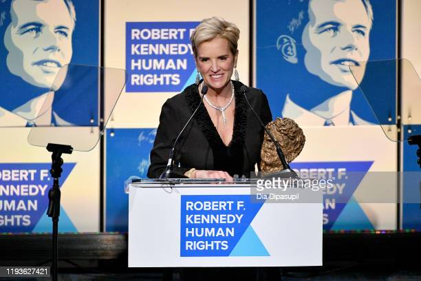 Kerry Kennedy speaks onstage at the 2019 RFK Ripple of Hope Awards at New York Hilton Midtown on December 12 2019 in New York City