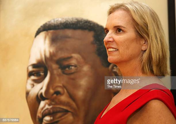 Kerry Kennedy the daughter of Senator Robert F Kennedy visits the Luthuli museum in Groutville on May 31 2016 in KwaZuluNatal The US family is in the...
