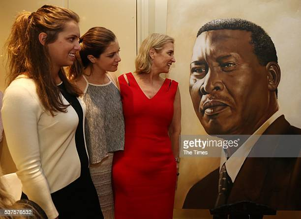 Kerry Kennedy the daughter of Senator Robert F Kennedy with her daughters Mariah Kennedy Cuomo and Michaela Kennedy Cuomo during their visit at the...