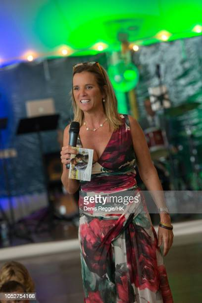 Kerry Kennedy toasting couple at the Cheryl Hines and Robert F Kennedy Jr Wedding at a private home on Saturday August 2 in Hyannis Port...