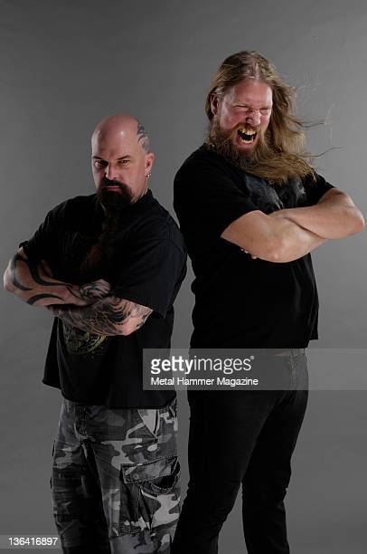 Kerry King and Johan Hegg in a session for Metal Hammer magazine August 22 2008
