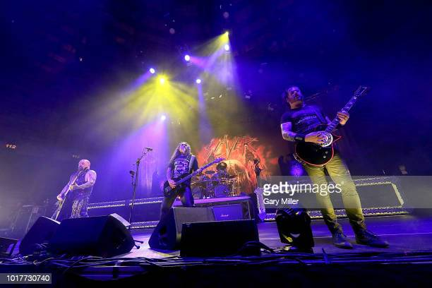 Kerry King Gom Araya and Gary Holt perform in concert with Slayer at Freeman Coliseum on August 15 2018 in San Antonio Texas