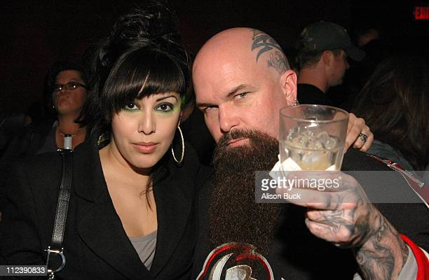 Kerry King of Slayer and wife during AFI's Music Documentary Series Presented by Audi Screening of Metal A Headbanger's Journey at ArcLight Cinemas...