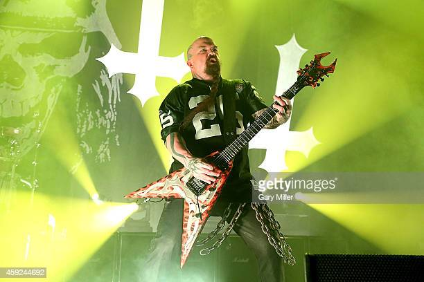 Kerry King of Slayer performs at ACL Live on November 18 2014 in Austin Texas