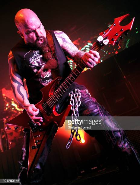 Kerry King of Slayer performs at Manchester Academy on May 30 2010 in Manchester England