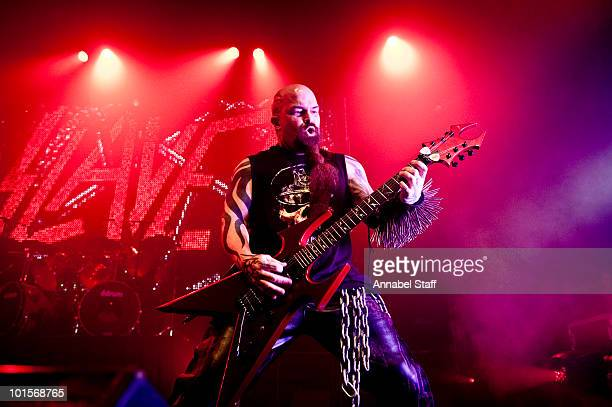 Kerry King of Slayer performs at The Forum on June 2 2010 in London England