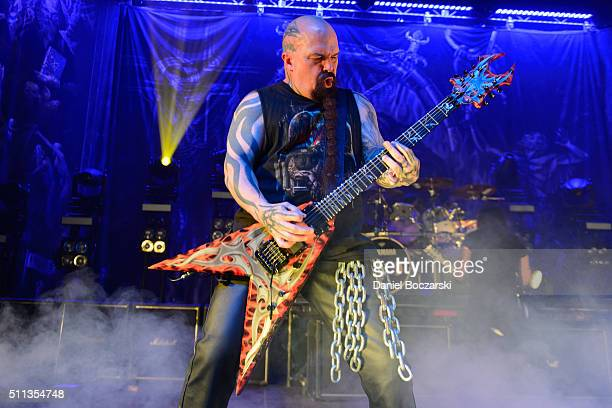 Kerry King of Slayer performs during the Repentless World Tour at Riviera Theatre on February 19 2016 in Chicago Illinois