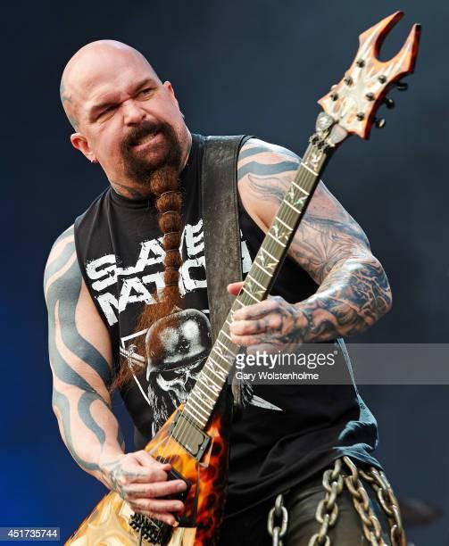 Kerry King of Slayer performs on stage at Sonisphere at Knebworth Park on July 5 2014 in Knebworth United Kingdom