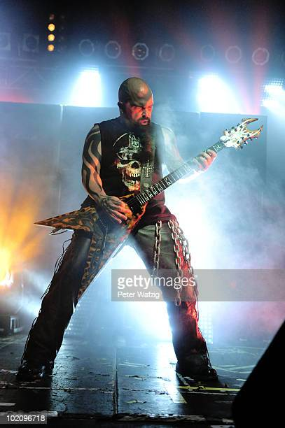 Kerry King of Slayer performs on stage at the Live Music Hall on June 14 2010 in Cologne Germany