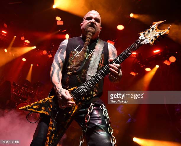 Kerry King of Slayer performs Slayer With Lamb Of God And Behemoth In Concert New York New York at The Theater at Madison Square Garden on July 27...