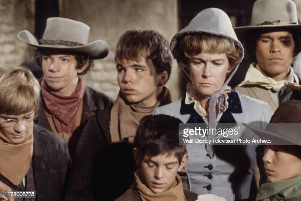Kerry MacLane, Sean Kelly, Clint Howard, Diana Douglas, A Martinez, Mitch Brown, Clay O'Brien appearing in the ABC tv series 'The Cowboys', shot at...