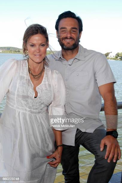 Kerry Malouf and Danny DiMauro attend The Maybelline New York/ Garnier Surf Salon Day 1 at The Surf Lodge on July 4 2009 in Montauk New York