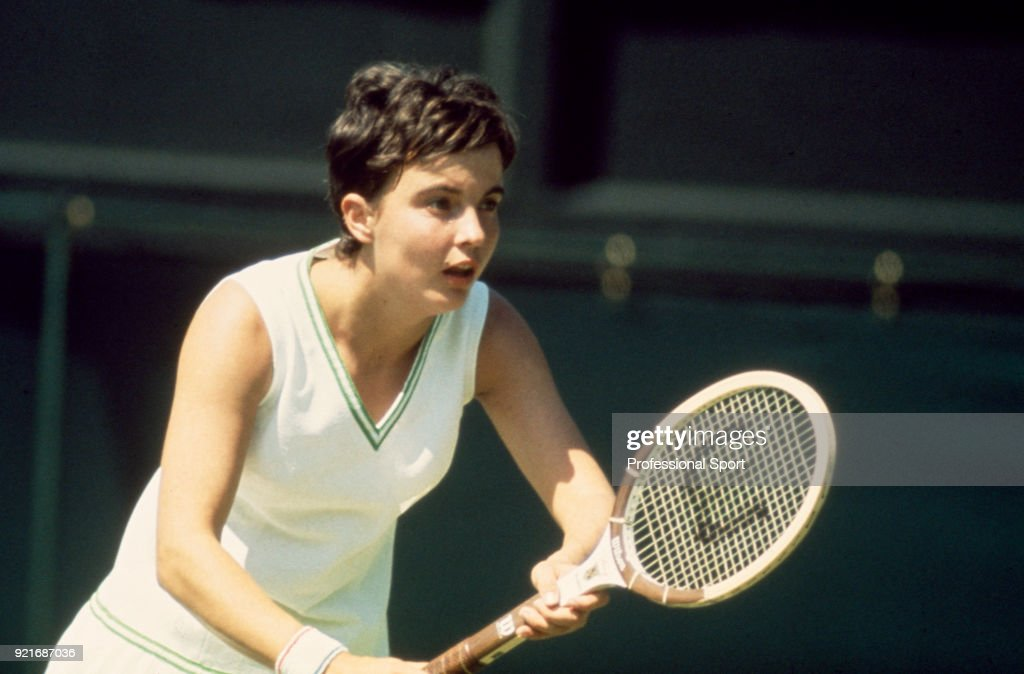 Kerry Melville of Australia in action during the Wimbledon Lawn Tennis Championships at the All England Lawn Tennis and Croquet Club, circa June, 1971 in London, England.