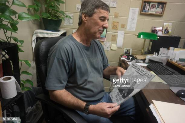 PRISON LOUISIANA OCTOBER Kerry Myers the editor of The Angolite holds up a copy of the prison newspaper Mr Myers spent 20 years as a writer and...