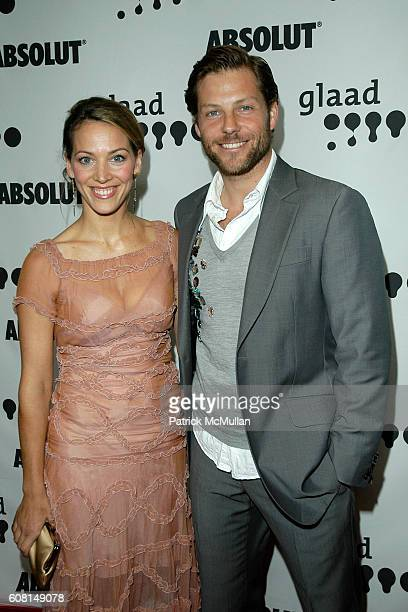 Kerry Norton and Jamie Bamber attend 18th Annual GLAAD Media Awards Arrivals at Kodak Theatre on April 14 2007 in Hollywood CA