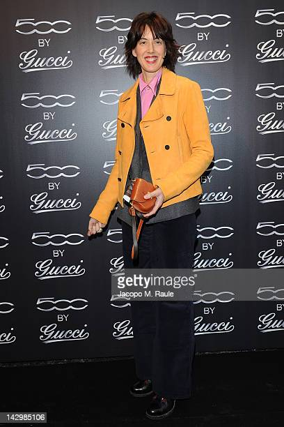 Kerry Olsen attends 500 by Gucci Short Film Collection cocktail party on April 16 2012 in Milan Italy