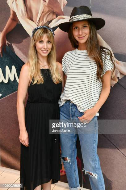 Kerry Pieri and Arielle Charnas attend Harper's BAZAAR X Sam Edelman MidSummer Hamptons Event on August 2 2018 in Southampton New York