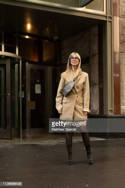 Kerry Pieri is seen on the street during New York Fashion Week AW19 wearing Michael Kors on February 13 2019 in New York City