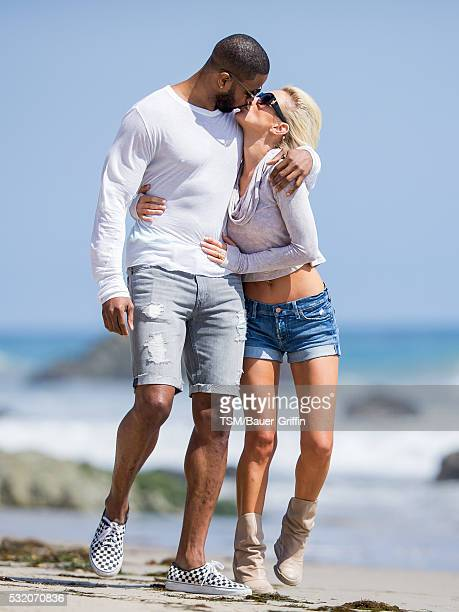 Kerry Rhodes and Nicky Whelan are seen on May 17 2016 in Los Angeles California
