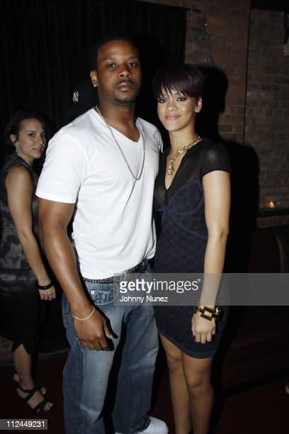 Kerry Rhodes and Rihanna attend the 'Good Girl Gone Bad' screening party on June 17 2008 at Guesthouse in New York