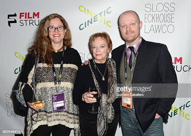Kerry Roy Marli Renfro and Alexandre O Philippe attend the Cinetic Sundance Party 2017 on January 23 2017 in Park City Utah