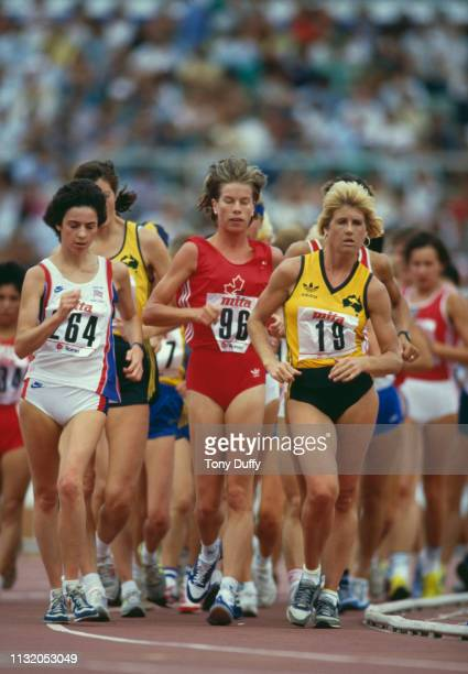 Kerry Saxby-Junna of Australia during the Women's 10 kilometres walk event of the IAAF World Athletics Championships on 1 September 1987 at the...