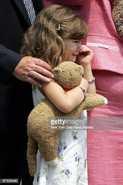Kerry Shortell the daughter of NYPD Inspector Michael Shortell grieves for her dad during funeral services at St Margaret's Church in Pearl River NY...