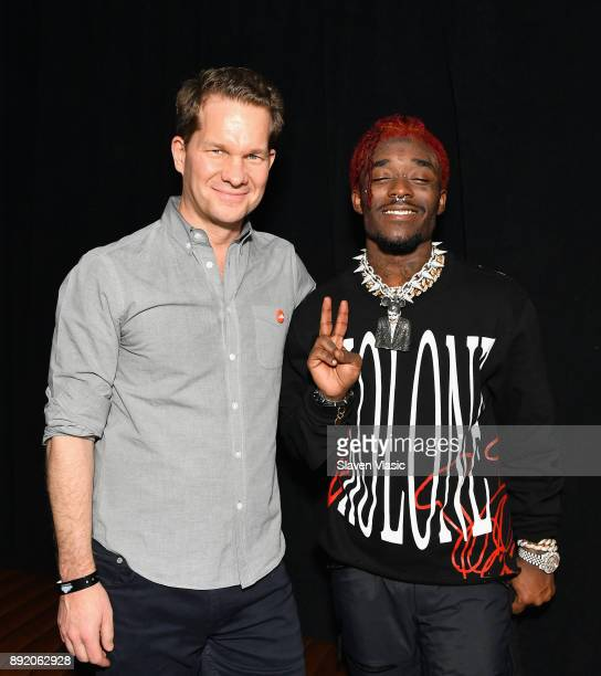 Kerry Trainor and Lil Uzi Vert attend as SoundCloud celebrates What's New Now and Next in Music at The Good Room on December 13 2017 in New York City