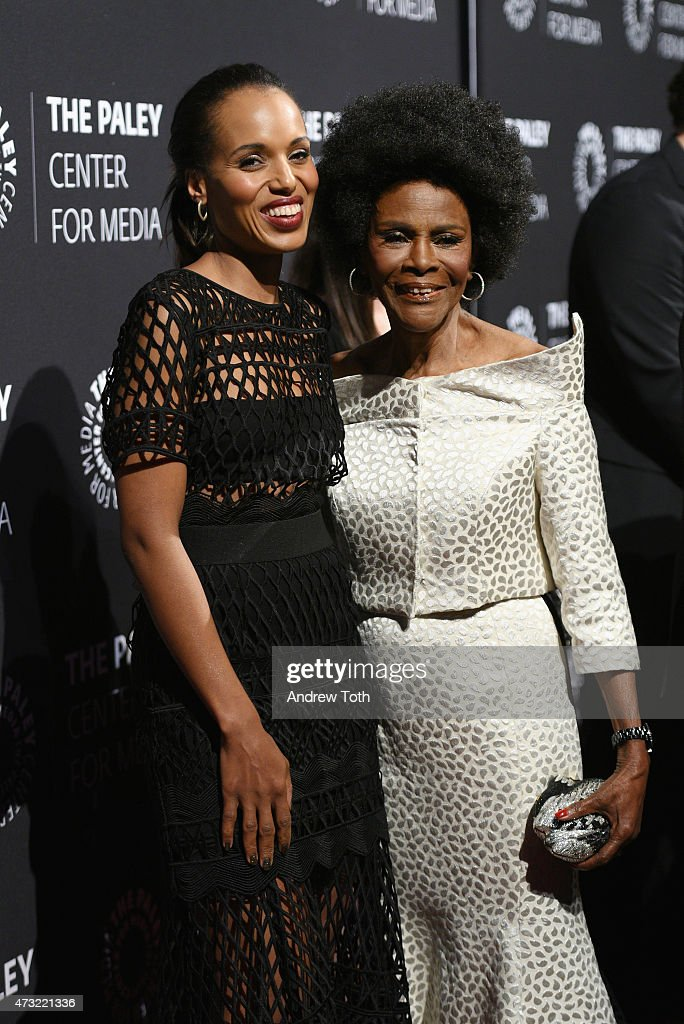 Kerry Washington (L) and Cicely Tyson attend A Tribute To African-American Achievements In Television hosted by The Paley Center For Media at Cipriani Wall Street on May 13, 2015 in New York City.