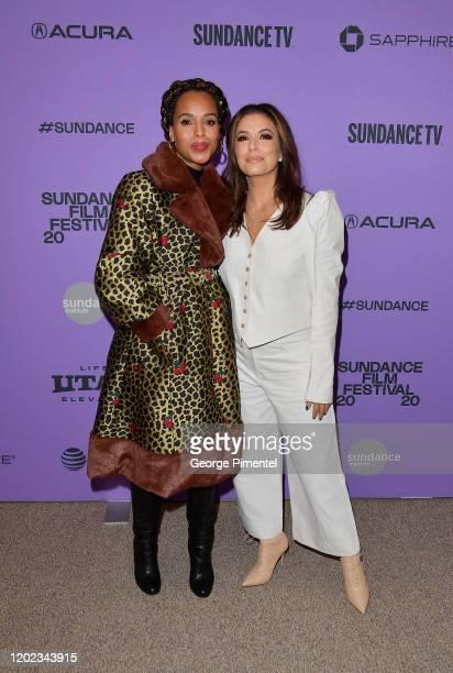"Kerry Washington and Eva Longoria attend the 2020 Sundance Film Festival - ""Sylvie's Love"" Premiere at Eccles Center Theatre on January 27, 2020 in..."
