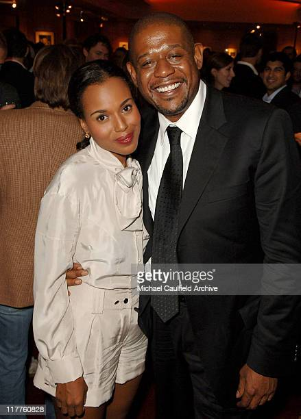 Kerry Washington and Forest Whitaker during Fox Searchlight Pictures Presents the Los Angeles Premiere of The Last King of Scotland at Academy of...