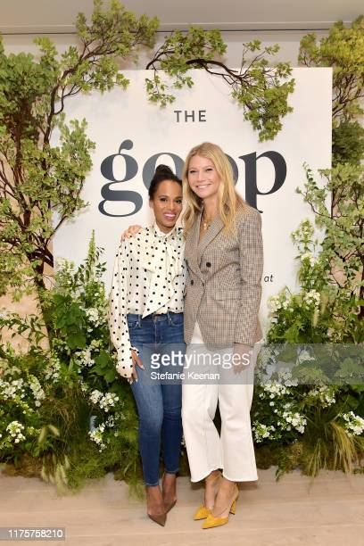 Kerry Washington and Gwyneth Paltrow attend Gwyneth Paltrow And Kerry Washington Host A Live Episode Of The goop Podcast with Banana Republic at...