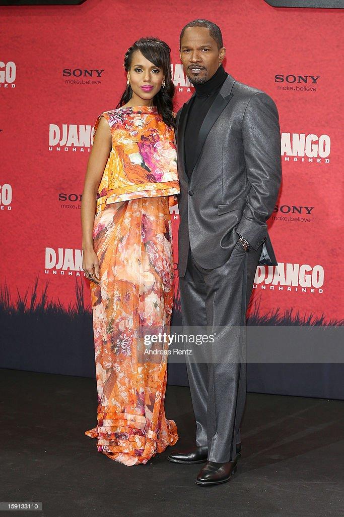 Kerry Washington and Jamie Foxx attend 'Django Unchained' Berlin Premiere at Cinestar Potsdamer Platz on January 8, 2013 in Berlin, Germany.