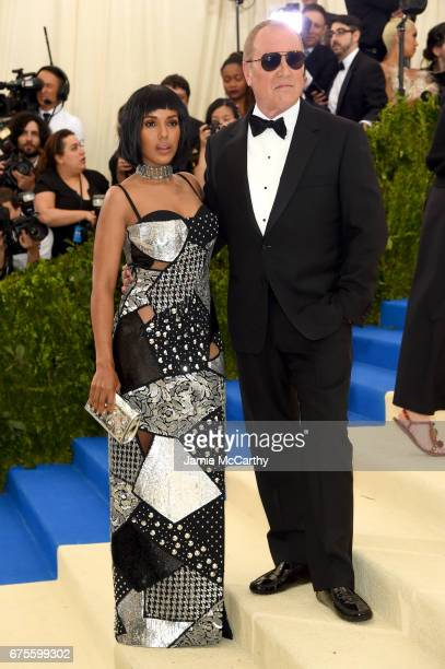 Kerry Washington and Michael Kors attend the 'Rei Kawakubo/Comme des Garcons Art Of The InBetween' Costume Institute Gala at Metropolitan Museum of...