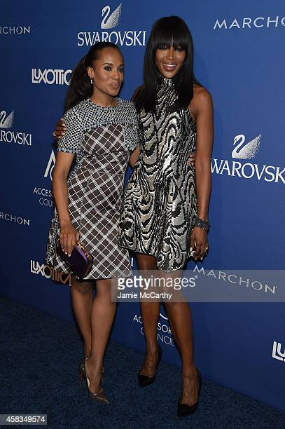 Kerry Washington and Naomi Campbell attend the 18th Annual Accessories Council ACE Awards At Cipriani 42nd Street at Cipriani 42nd Street on November...