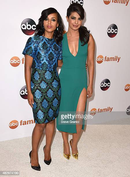 Kerry Washington and Priyanka Chopra arrives at the Disney ABC Television Group's 2015 TCA Summer Press Tour on August 4 2015 in Beverly Hills...