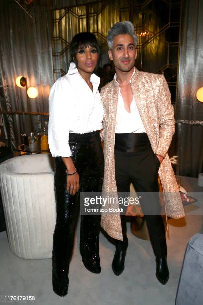 Kerry Washington and Tan France attend the Netflix's 71st Emmy Awards After Party on September 22, 2019 in Hollywood, California.