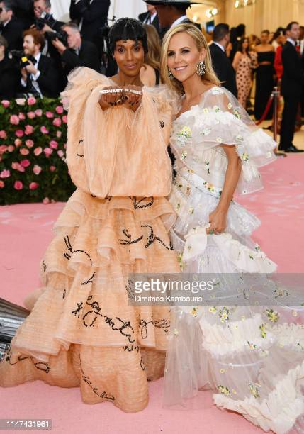 Kerry Washington and Tory Burch attends The 2019 Met Gala Celebrating Camp: Notes on Fashion at Metropolitan Museum of Art on May 06, 2019 in New...