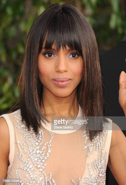 Kerry Washington arrives at the 70th Annual Golden Globe Awards at The Beverly Hilton Hotel on January 13 2013 in Beverly Hills California