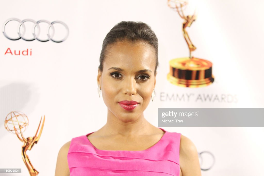 Kerry Washington arrives at The Academy of Television Arts & Sciences and SAG-AFTRA celebrate The 65th Primetime Emmy Award Nominees held at Academy of Television Arts & Sciences on September 17, 2013 in North Hollywood, California.