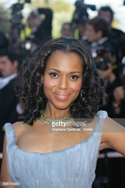 Kerry Washington arrives at the premiere of Zodiac during the 60th Cannes Film Festival