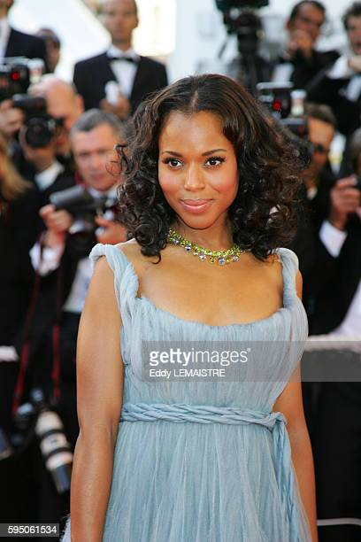 Kerry Washington arrives at the premiere of 'Zodiac' during the 60th Cannes Film Festival