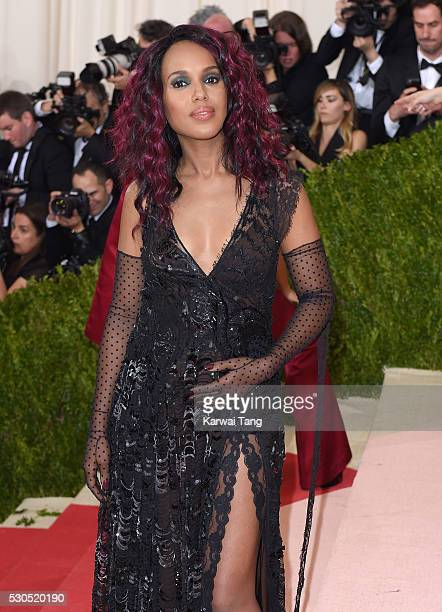 Kerry Washington arrives for the Manus x Machina Fashion In An Age Of Technology Costume Institute Gala at Metropolitan Museum of Art on May 2 2016...
