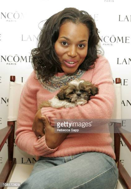 Kerry Washington at Lancome during Luxury Lounge at The Peninsula Hotel Day 2 at Peninsula Hotel in Beverly Hills CA United States