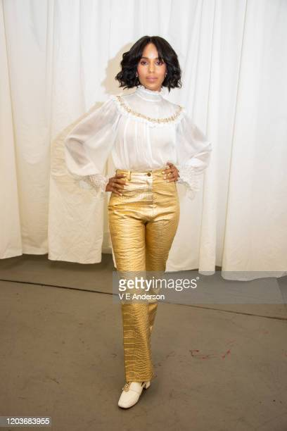 "Kerry Washington at the ""Little Fires Everywhere"" set visit at The Lot Studios on October 15, 2019 in Los Angeles, California."